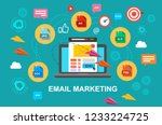 email marketing  internet... | Shutterstock .eps vector #1233224725