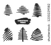 vector collection of hand drawn ... | Shutterstock .eps vector #1233229582