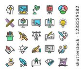 design and drawing icons set.... | Shutterstock .eps vector #1233239182