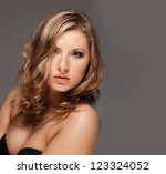 portrait of beautiful woman | Shutterstock . vector #123324052