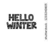 hello winter hand drawn winter... | Shutterstock .eps vector #1233240805
