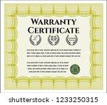 yellow warranty certificate...   Shutterstock .eps vector #1233250315