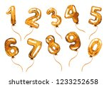golden balloon numbers.... | Shutterstock . vector #1233252658