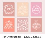 set of hand drawn christmas... | Shutterstock .eps vector #1233252688