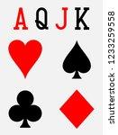 Set Of Playing Card Symbols...
