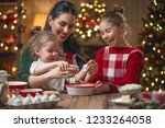 merry christmas and happy... | Shutterstock . vector #1233264058