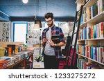 handsome hipster guy in... | Shutterstock . vector #1233275272