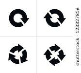 4 arrow pictogram refresh... | Shutterstock .eps vector #123327856