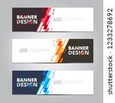 vector abstract design banner... | Shutterstock .eps vector #1233278692