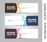 vector abstract design banner... | Shutterstock .eps vector #1233278695
