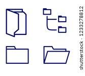 folders outline  thin  flat ...