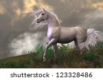 White Unicorn Stallion   Cloud...