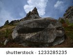 billcycle huge stone gray lies... | Shutterstock . vector #1233285235