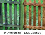 Two Parts Of Wooden Fence...