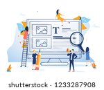 business team presenting a... | Shutterstock . vector #1233287908