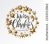 merry christmas calligraphic...   Shutterstock .eps vector #1233312862