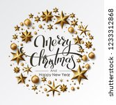 merry christmas calligraphic... | Shutterstock .eps vector #1233312868
