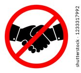 no handshake icon. vector... | Shutterstock .eps vector #1233317992