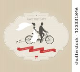 funny wedding invitation with... | Shutterstock .eps vector #123331846