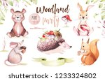 cute baby animal nursery mouse  ... | Shutterstock . vector #1233324802
