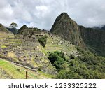 the ancient ruins of machu...   Shutterstock . vector #1233325222