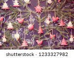 christmas ornaments in budapest ...   Shutterstock . vector #1233327982