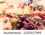 christmas ornaments in budapest ...   Shutterstock . vector #1233327985