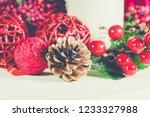 studio shot of christmas...   Shutterstock . vector #1233327988
