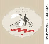 funny wedding invitation with... | Shutterstock . vector #123333328