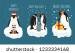 imperial penguin on the ice... | Shutterstock .eps vector #1233334168