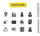 trade icons set with qr code ... | Shutterstock . vector #1233338755