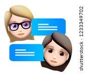 chat bot woman emoji  concept.... | Shutterstock .eps vector #1233349702