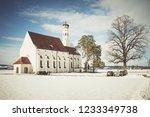 view on winter saint coloman in ...   Shutterstock . vector #1233349738