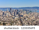 san francisco downtown seen... | Shutterstock . vector #123335695