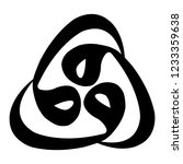 three arabic vav letters... | Shutterstock .eps vector #1233359638