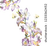 beautiful  floral garland. ... | Shutterstock . vector #1233362452