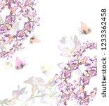 beautiful  floral garland. ... | Shutterstock . vector #1233362458
