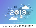 infographic concept  2019  ... | Shutterstock .eps vector #1233369928