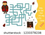 winter labyrinth for children.... | Shutterstock .eps vector #1233378238