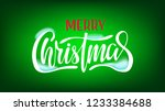 vintage christmas card  merry... | Shutterstock .eps vector #1233384688