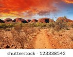 beautiful colors and landscape... | Shutterstock . vector #123338542