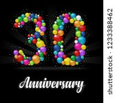 30 years anniversary colorful... | Shutterstock .eps vector #1233388462