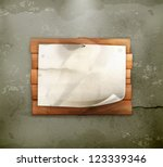 announcement on wooden board ... | Shutterstock .eps vector #123339346
