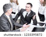 business team working with... | Shutterstock . vector #1233395872