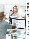 leading specialist of finance... | Shutterstock . vector #1233396358