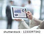 close up.a business woman... | Shutterstock . vector #1233397342