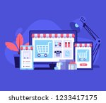 nternet shopping concept with...