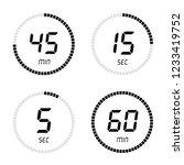 countdown clock counter timer.... | Shutterstock .eps vector #1233419752