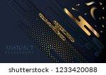 black paper cut background....   Shutterstock .eps vector #1233420088