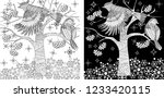 coloring pages. coloring book...   Shutterstock .eps vector #1233420115